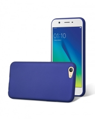 Oppo A57 Back Cover - Silicone Rubber Finish Blue blue 5.5