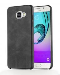 Samsung Galaxy S7 Edge Executive Leather Back Cover - Black black 5.5