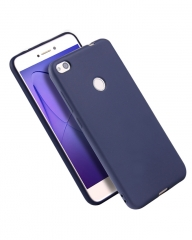 Huawei P8 Lite Back Cover - Silicone Rubber Finish Blue blue 5.5