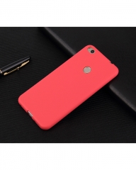 Huawei Honor 8 Lite Back Cover - Silicone Rubber Finish Red red 5.5