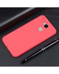 Huawei GR5 Mini Back Cover - Silicone Rubber Finish Red red 5.5