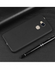 Huawei GR5 Mini Back Cover - Silicone Rubber Finish Black black 5.5