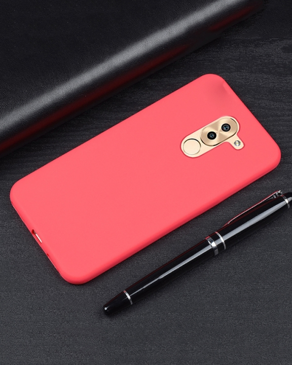 Huawei GR5 2017 Back Cover - Silicone Rubber Finish Red red 5.5