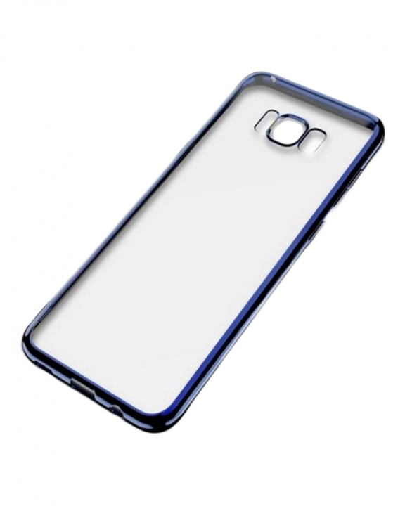 Samsung Galaxy S8 Plus Back Cover - Clear With Blue Edges clear 5.5