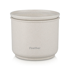 Buy One Get One- Finether Wheat straw sealed storage containers round Beige M