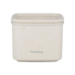 Finether wheat straw sealed storage containers-square Beige M