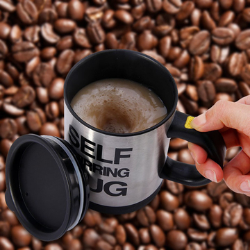 Double Insulated Self Stirring Mug 400ml Electric Coffee Cup Perfect Souvenir as the picture One Size