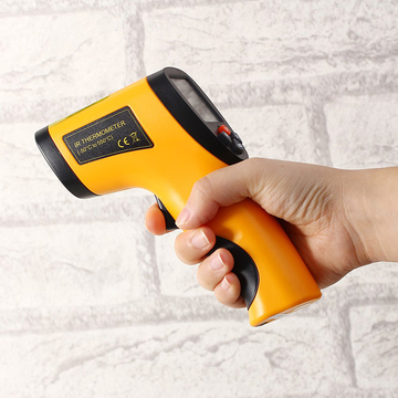 Non-contact IR Gun Style Infrared Digital Temperature Thermometer Orange One Size