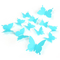 DIY 3D Butterfly Wall Stickers Mirror Art Decal PVC Paper for Home Showcase - 12Pcs Blue One Size