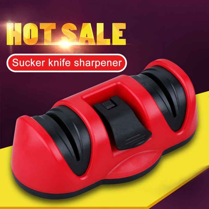 Sharpening Stone Kitchen Knives Tool  Black+Red One Size
