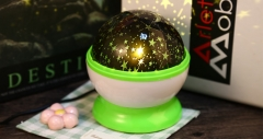 Night Light Lamp Flashing Starry Sky Cosmos Projector Green One Size One Size