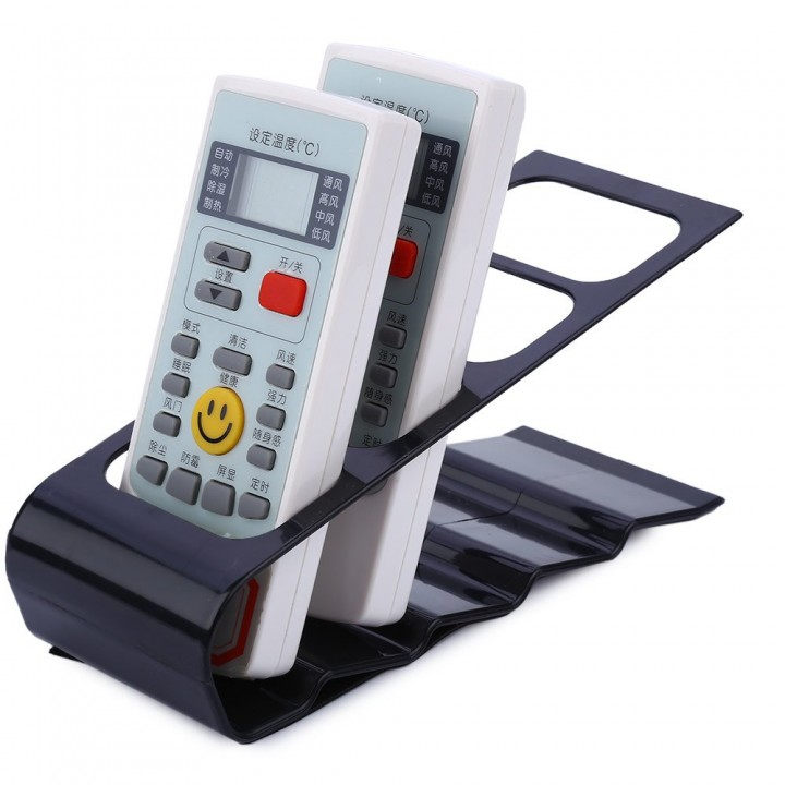 DVD VCR TV Remote Control CellPhone Shelf Stand Holder Organiser Tools Black One Size