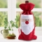 Red Wine Bottle Cover Bags Christmas Table Dinner Decoration Home Party Decors Red One Size
