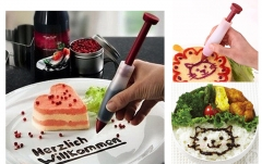 Silicone Plate Pen Icing Decorating Syringe for Cake Pastry Cream Chocolate as the picture One Size