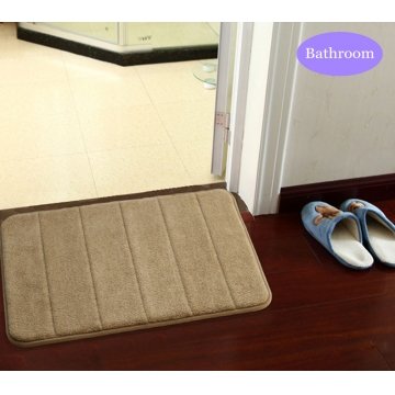 40 x 60cm Coral Velvet Bathroom Mat Non-slip Memory Foam Rug Soft Floor Carpet Coffee 40 x 60cm