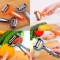 360 Degree Rotary Potato Peeler Vegetable Cutter Orange One Size