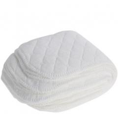 10PCS Cotton Washable Diaper Nappies Insert Reusable Cloth White