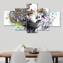 Abstract Beautiful Girl Modern Home Decor  Printed Canvas Art Print as the picture one size