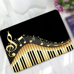Creative Piano Pattern Antiskid Floor Mat Colormix one size