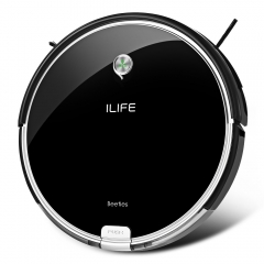 ILIFE A6 Smart Robotic Vacuum Cleaner Cordless Sweeping Cleaning Machine Self-recharging Robot Piano Black one size