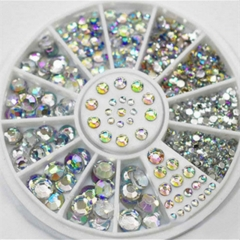 4 Size 300pcs Nail Art Tips Crystal Glitter Rhinestone Decoration as the picture one size