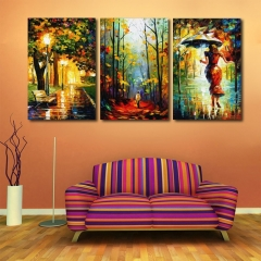 3pcs Abstract Painting Printing Canvas Wall Home Decoration Colormix one size