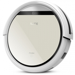 ILIFE V5 Intelligent Robotic Vacuum Cleaner Set LCD Touch Screen Self-charge Ultimate Filter Sensor Remote Control Robot Aspirador Silver one size