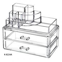 Clear Acrylic Cosmetic Organizer Makeup Container Storage Gift for Couple as the picture