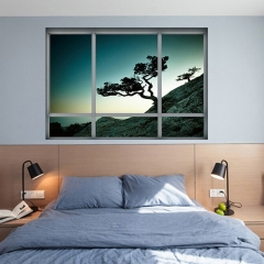 3D Fake Window Crimea Scenery Wall Sticker Paper Decal Decoration as the picture one size