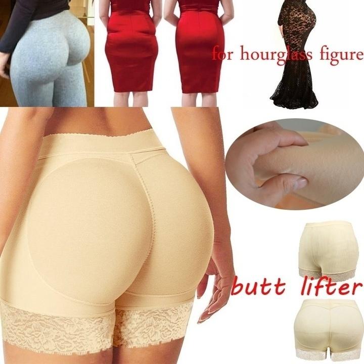 2019 New Women Lace Padded Seamless Butt Hip Enhancer Shaper Panties Underwear black xl