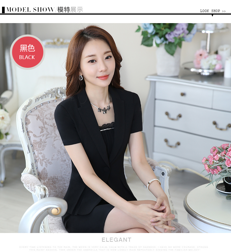 d02e6563eb7c Plus Size Business Suits Jackets Skirt Professional Interview Wear ...