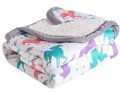 Baby Blanket Print Fleece Best Registry Gift for Newborn Soft- Perfect  30