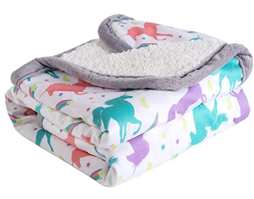 "Baby Blanket Print Fleece Best Registry Gift for Newborn Soft- Perfect  30"" x 40"" normal one size"
