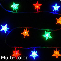 3M Stars Warm White LED Fairy Curtain String Light Wedding Christmas Decor Lamps Party  Xmas Decor 2 normal normal