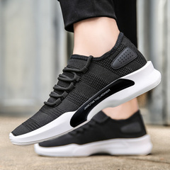 Running Shoes for Men 2018 New Summer Brand Sneakers Male Athletic Sport Shoes Male Outdoor Walking black 39=24.5cm