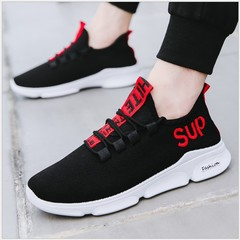 Lovers Shoes New Fashion Men's Casual Sports Shoes Outdoor Lightweight Breathable Running Shoes 328 black 39=24.5cm