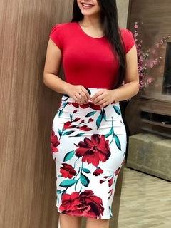 2019 new new, burst buying, repair dress, large code red s