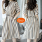 2019 New, Striped, Waist, Leisure, Dress, Special white xl