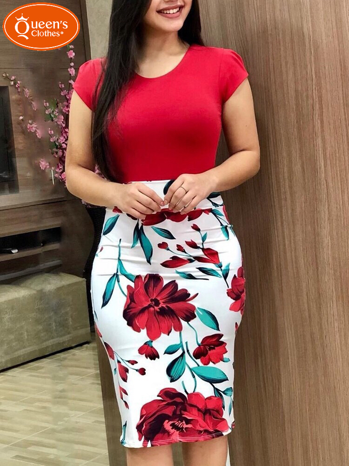 2019 new new, burst buying, repair dress, large code,Crazy sale, time-limited buying. red s