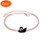 The lowest price on the Internet, black swan bracelet, special price, low price buying, Rosegold. 18 cm long(including extended bracelet 3CM)
