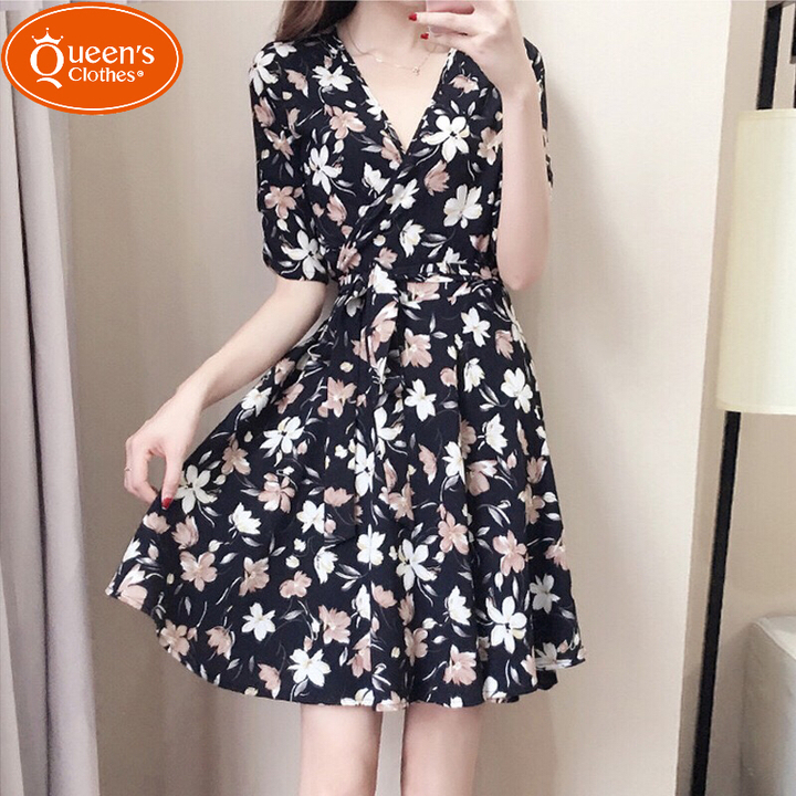 2019 New product, low price buying, sleeveless hanging neck, splicing, dress black xl 3