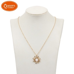 New type, solanoprene necklace, female, clavicle chain, creative, gold. golden length:46+14cm