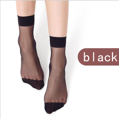 1 Pair New Ultrathin Ladies Transparent Invisible Crystal Socks Sexy Stockings For Women Gift black one size