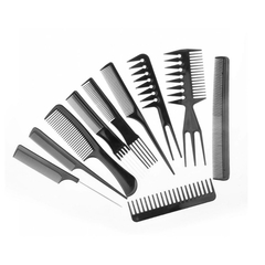 10-piece comb beauty cosmetic comb professional  anti-statichair comb black as shown