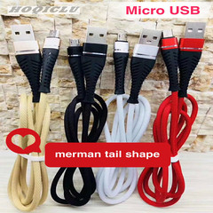 Data Cable Merman Tail Shape Fast Charging Line For Android red type-c