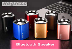 Wireless Bluetooth Metal Shell Mini Speaker Portable Subwoofer Sound With Micro TF Card Booth red 2w H3