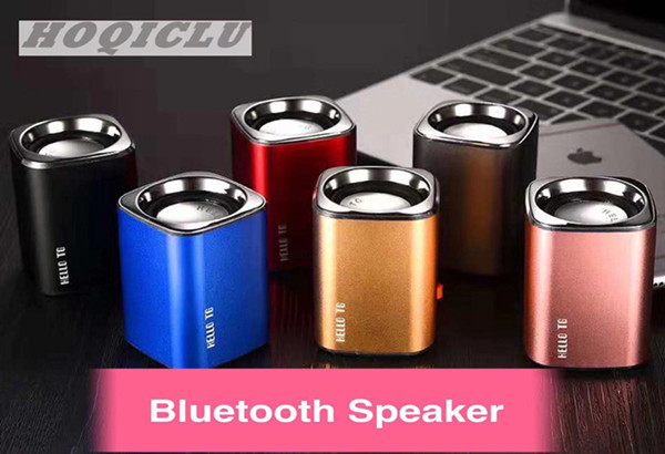 Luxury Bluetooth Speaker Metal Shell Mini Speaker Portable Subwoofer Sound With Micro TF Card Booth blue 2w H3