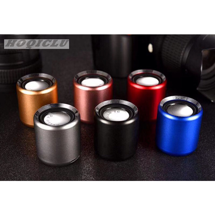 Luxury Bluetooth Wireless Metal Shell Mini Speaker Portable Subwoofer Sound With Micro TF Card Booth black 2w h2