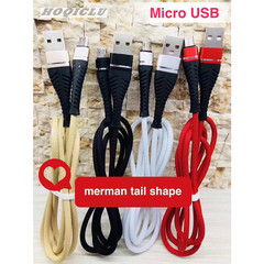 Data Cable Merman Tail Shape Fast Charging Line For Android Typec Or Micro USB white micro usb