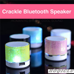 Wireless Speaker Bluetooth Mini portable Subwoofer speaker outdoor  rechargeable Colorful LED blue 3w A9